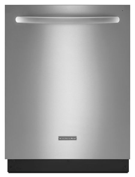 """KitchenAid 24"""" Stainless Steel Dishwasher with Stainless Steel Interior (Model: KUDS35FXSS)"""