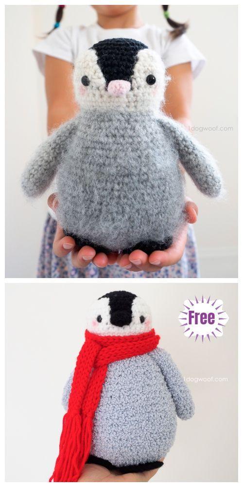 Häkeln Sie Baby Pinguin Amigurumi Free Patterns Süße Tiere