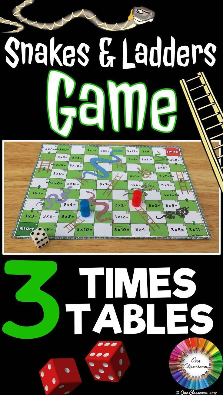 3 Times Tables Snakes And Ladders Game Times Tables 3