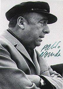 Pablo Neruda Chilean poet, Nobel prize winner.