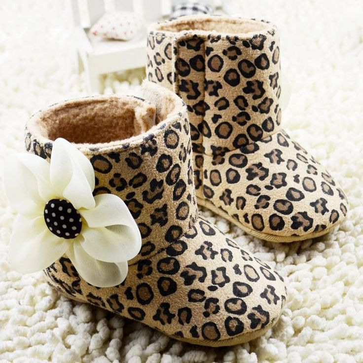 Baby Girl Leopard Snow Boots