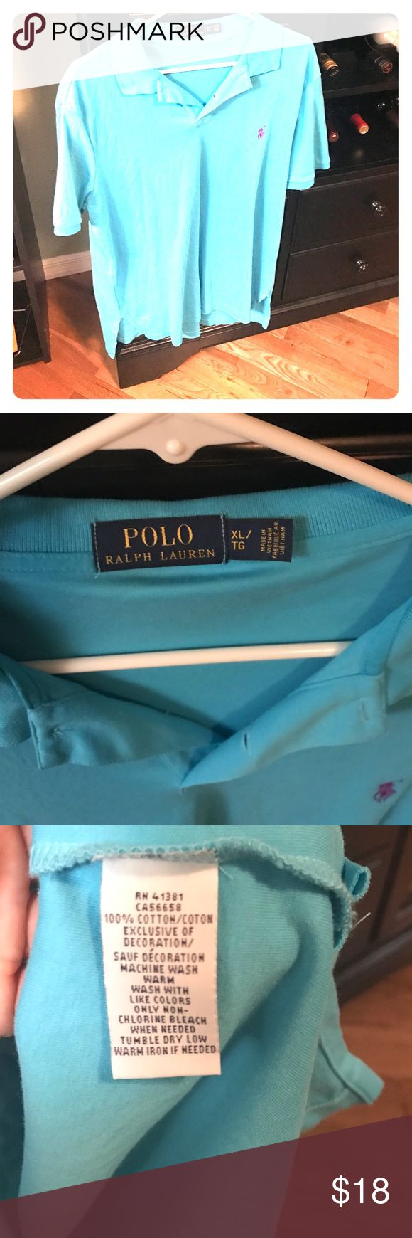 Ralph Lauren Polo In good shape. Well taken care of.  My husband never put it in the dryer. Turquoise color. Polo by Ralph Lauren Shirts Polos