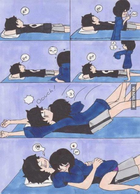 How to properly wake up your boyfriend...