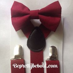 Hey, I found this really awesome Etsy listing at https://www.etsy.com/listing/243694933/burgundy-bow-tie-suspender-set-rustic