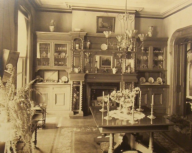 """Victorian dining room 1890's"""