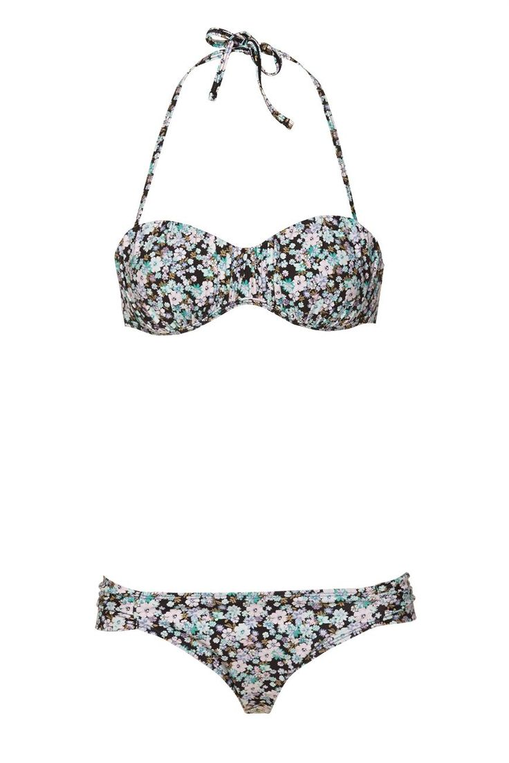 gathered tie bikini set | Factorie