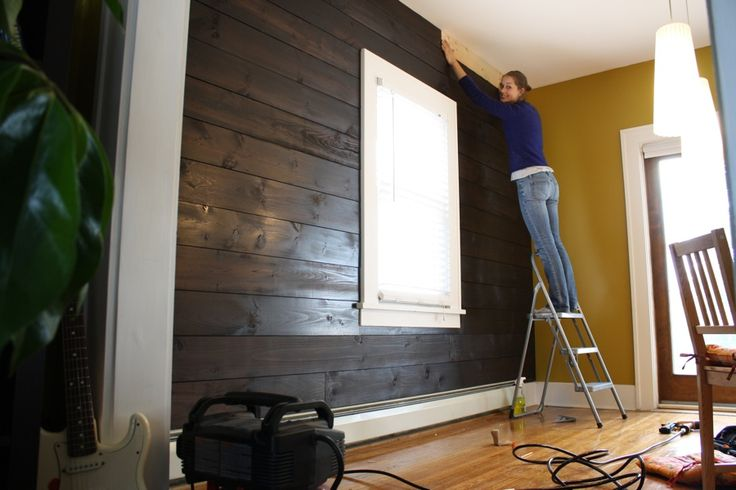 Shiplap.: Clever Projects, Wood Projects, Color, Garage, Dark Wood, Diy Projects Info, Decorating, Bedrooms Projects, Awesome Wood