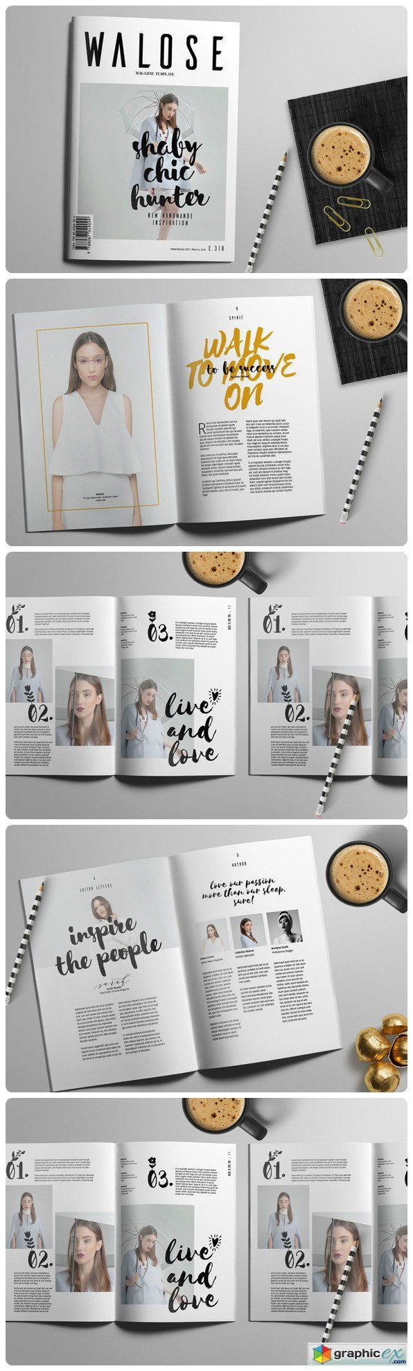InDesign Magazine Template 575634 More                                                                                                                                                                                 More