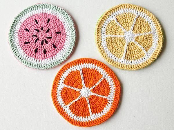 Crochet Tutti Fruitti Potholders - Free Pattern!
