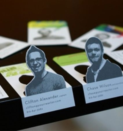 These business cards will help your new contact put a face to a name.