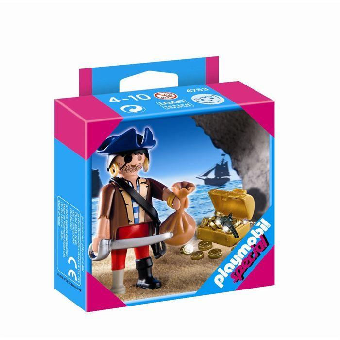 UNIVERS MINIATURE Playmobil Pirate Avec Coffre Au Trésor