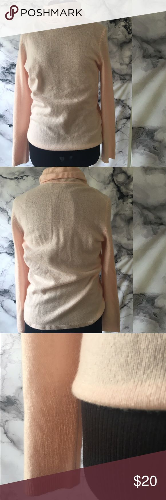 CASHMERE 2 ply by Charter Club Pink Turtleneck Pale Pink soft and a get minimal staple. Size Small. Please see pics for more details Charter Club Tops
