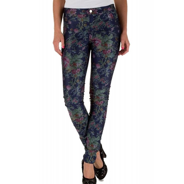 Pantaloni Dama ONLY Duffy Dark Flower Denim