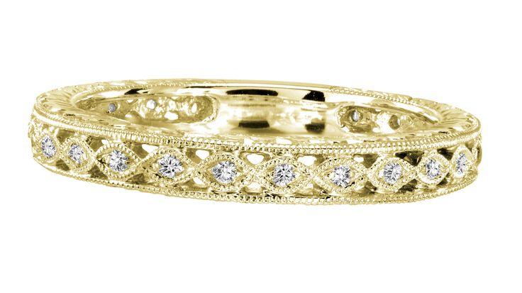 Yellow Gold Vintage Diamond Band .15ct tw