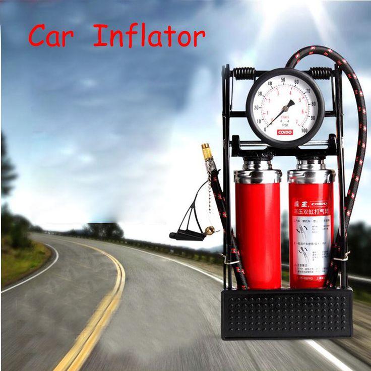 Multifunctional car tire inflator portable air pump doubler cylinder car pump pedal pumping tire machine 35L/min