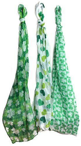 Stylish St Patricks Fashion Scarves Pack of 3 ** See this great product.(This is an Amazon affiliate link and I receive a commission for the sales)