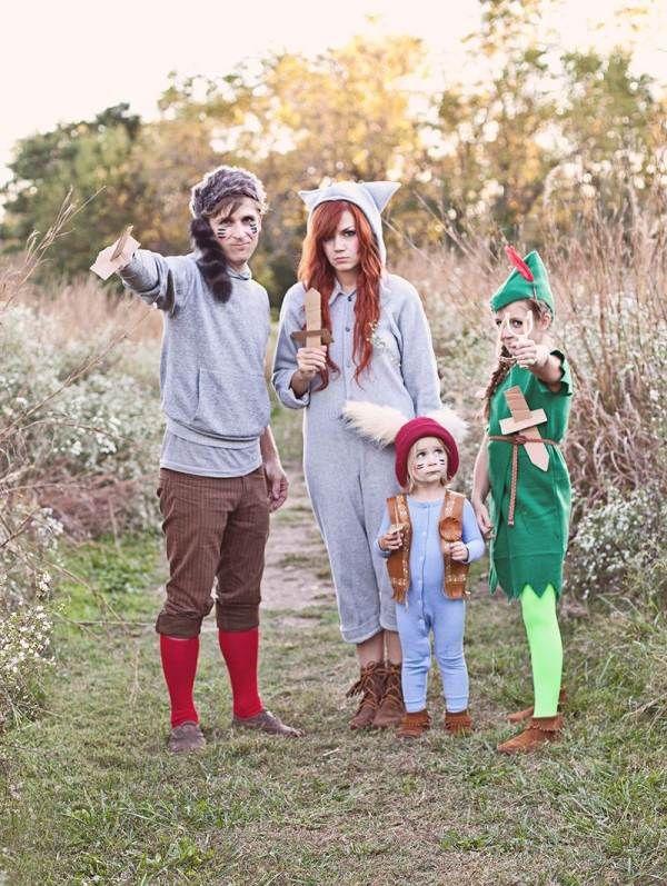 Familien Ideen basteln kostüme selbstgemachte Faschingskostüme Robin-hood