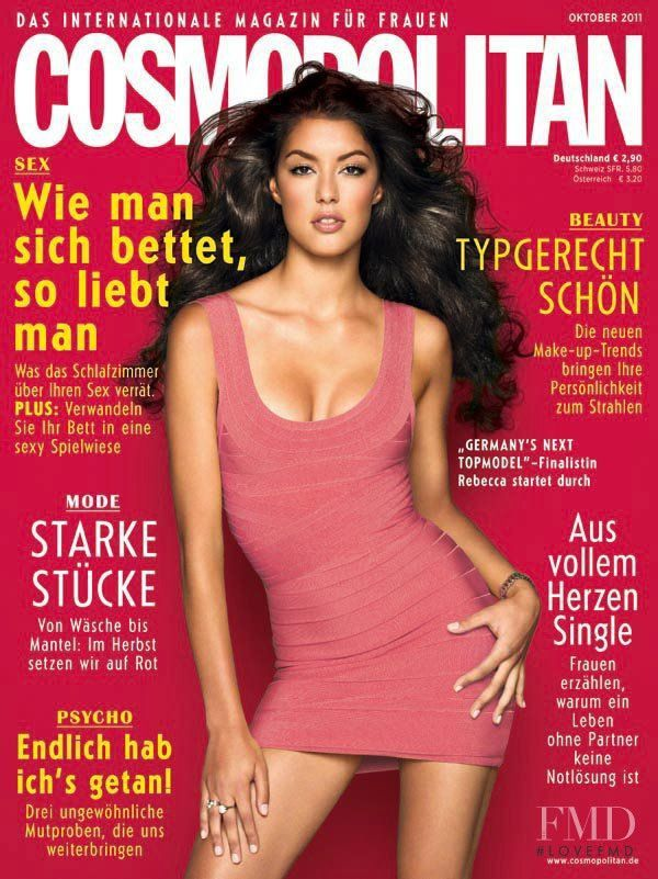 Rebecca Mir is strictly sexy on the cover of Cosmopolitan Germany, October 2011
