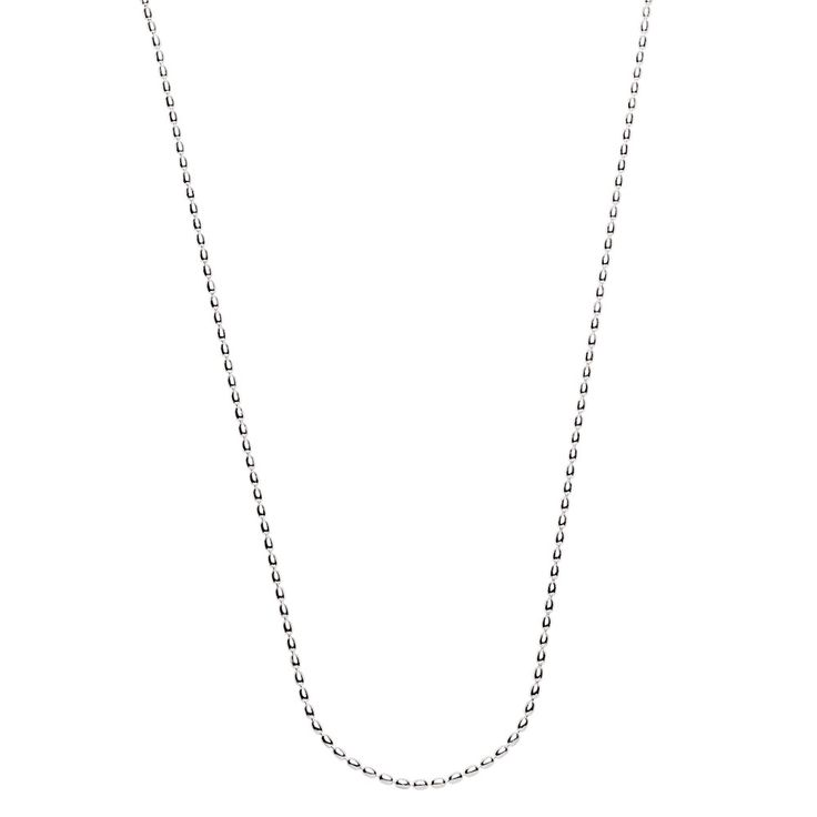 "60cm (24"") rice chain can be worn long, or with a double loop. Exclusive to Emma & Roe."