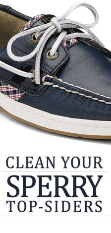 How to clean Sperry Top-Siders. Easy and simple.  Remember it depends on the kind of leather that the shoe is made out of.  Read to learn the proper way to clean your type of Sperry shoes.  The Sperry website hardly gives details about this!