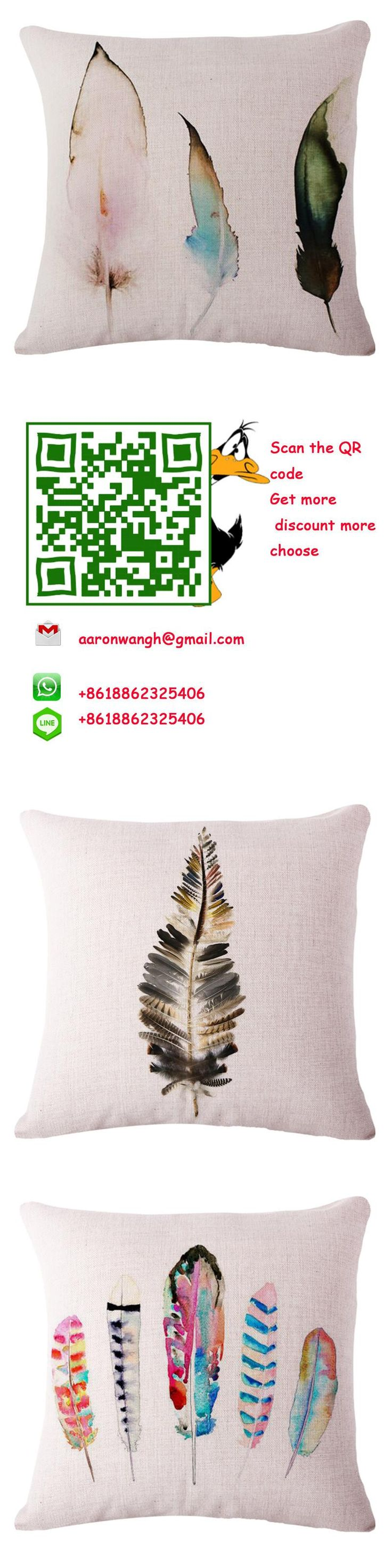45cm *45cm Pretty Feather pillow case 3d 1 Side Printing Decorative Throw Pillows Cover for So fa Pillowcase