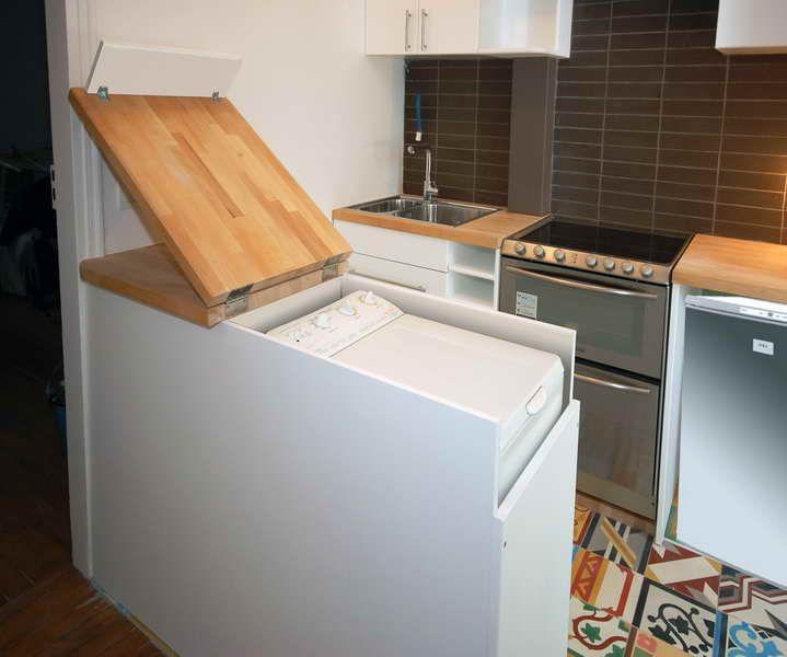 Встроенная стиральная машина на кухне: советы по выбору и 60+ оптимальных вариантов размещения http://happymodern.ru/vstroennaya-stiralnaya-mashina/ Отличная идея для встроенной машинки с вертикальной загрузкой