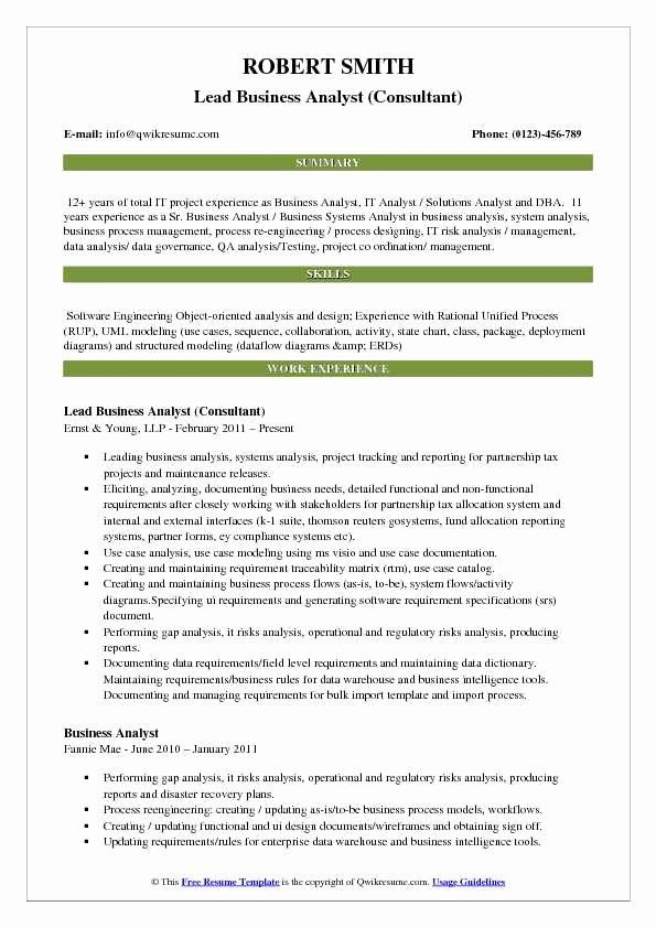 Business Process Analyst Resume Best Of Lead Business Analyst Resume Samples In 2020 Business Analyst Resume Resume Examples Manager Resume