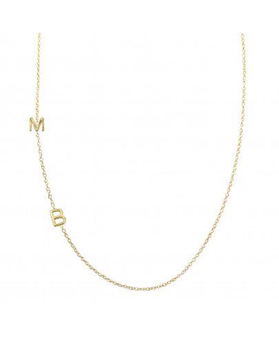 Maya Brenner Asymmetrical Letters Necklace