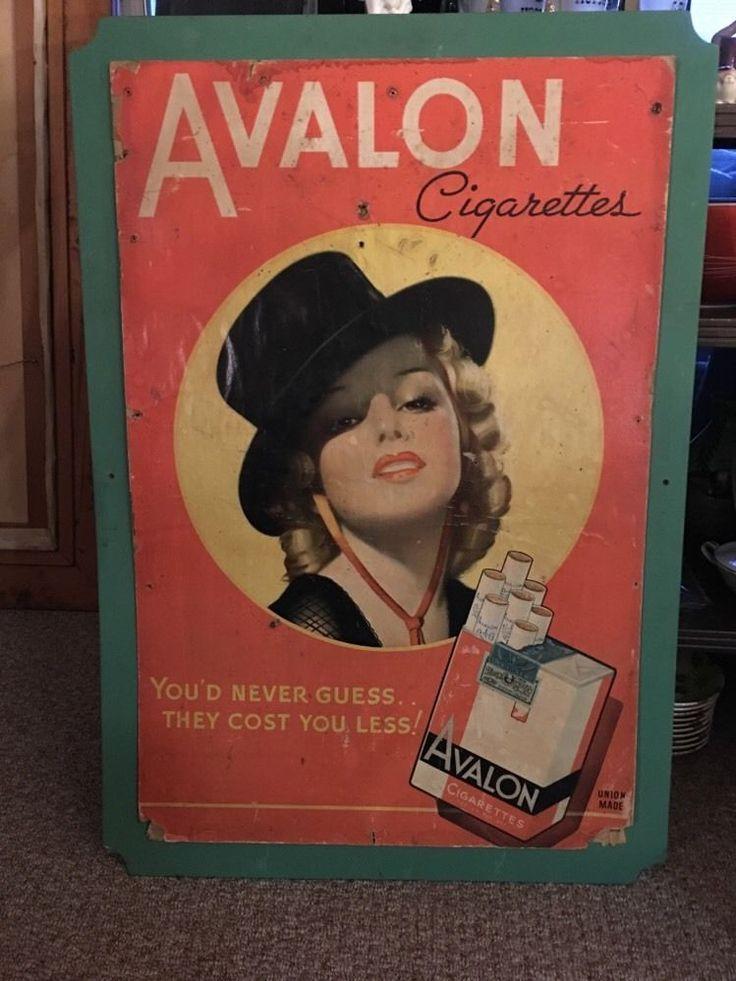 Vintage Avalon Cigarette Poster Blonde Girl | eBay
