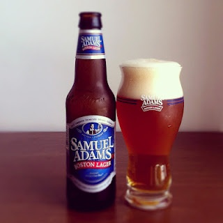 """Samuel Adams Boston Lager...Doug's favorite..I just ordered him a set of the """"special"""" glasses that enhance the flavor..he's gonna love it! ;)"""