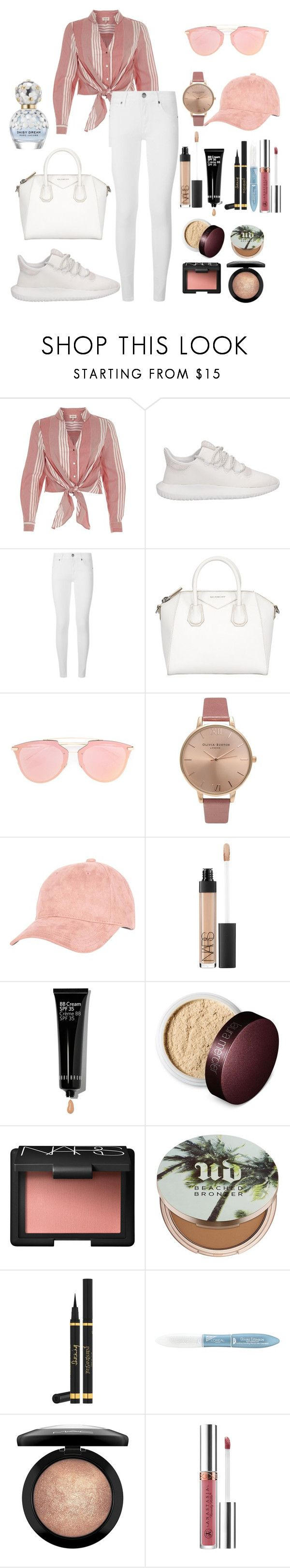 """Untitled #110"" by rahmadita14 on Polyvore featuring River Island, adidas, Burberry, Givenchy, Christian Dior, Olivia Burton, Billabong, NARS Cosmetics, Bobbi Brown Cosmetics and Laura Mercier"