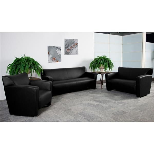 hercules majesty series black brown leather living room set