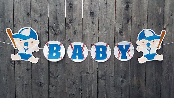 Béisbol bebé ducha bandera  Banner de béisbol  béisbol