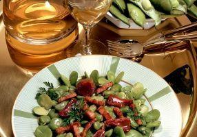 Fèves en salade aux gésiers confits - Recettes - Cuisine française
