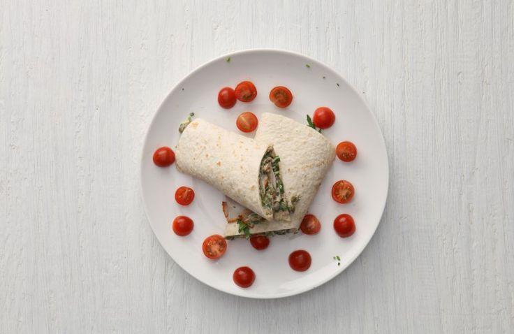 Italiaanse wraps met tonijn, rucola en fricandeau
