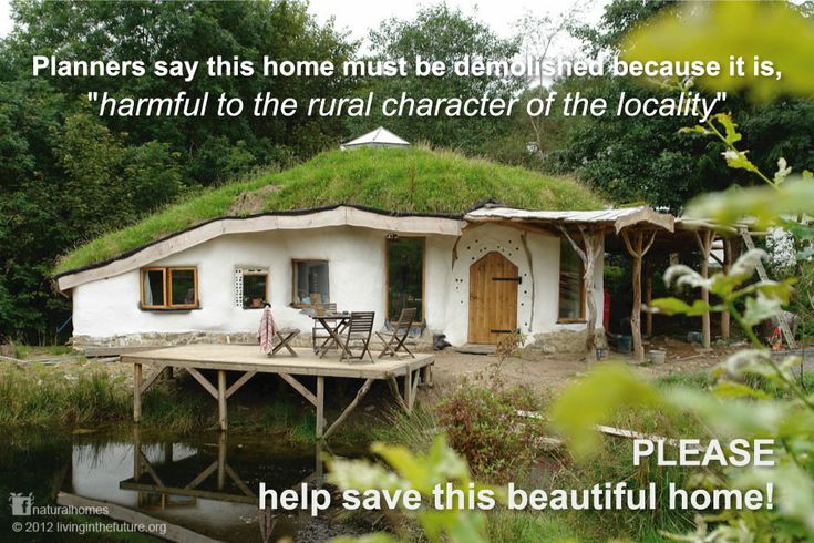 """This is a beautiful straw bale roundhouse in Pembrokeshire, Wales. Pembrokeshire County Council has issued an enforcement notice saying the property is, """"harmful to the rural character of the locality"""" and must be demolished. Click the picture to read the full story and help save this home. More on www.naturalhomes.org"""