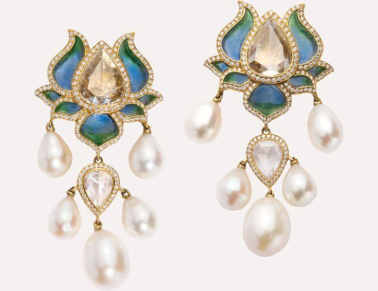 Lotus Earrings   Munnu The Gem Palace