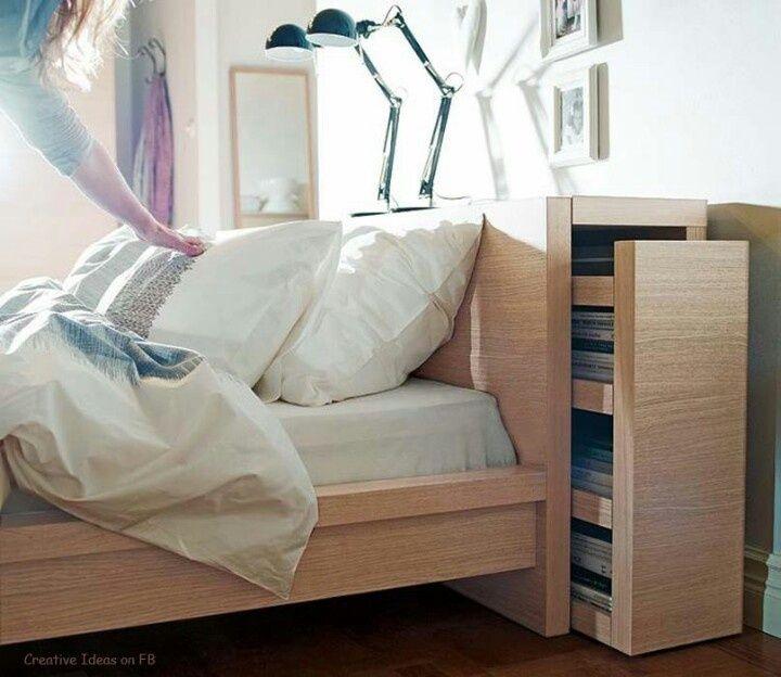 functional headboards | Functional headboard from IKEA