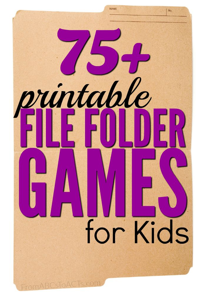 File folder games are so easy to put together and are a great way for your child to practice the concepts that they're learning!