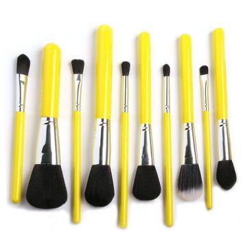 15pcs Makeup Brushes Set (Yellow)