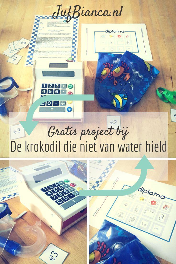 Download nu een gratis project bij Kleuteruniversiteit bij het prentenboek De krokodil die niet van water hield! - JufBianca.nl