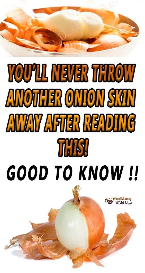 Good to know !!!! A common mistake most people do is throw away the onion skin when using this vegetable.