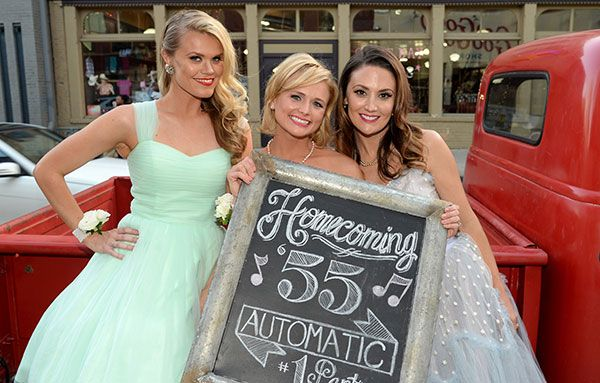 "Nicolle Galyon (left), Miranda Lambert and Natalie Hemby attend the ""Automatic"" No. 1 party on June 30, 2014, in Nashville."