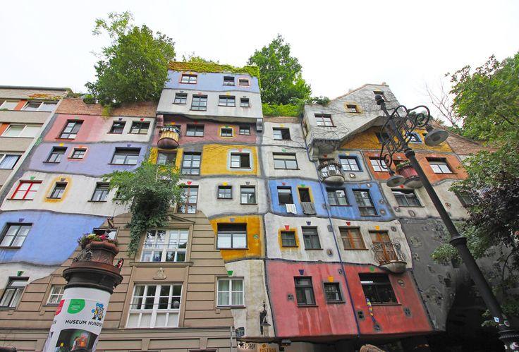 Hundertwasserhaus residential complex in Vienna