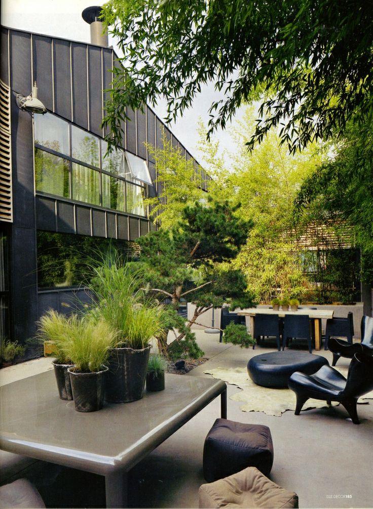 Grey & Green Outdoor Space
