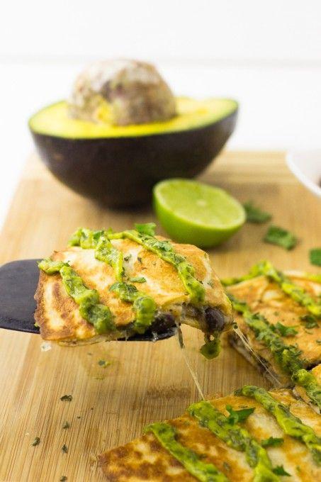 Mexican Quesadillas with Avocado Cilantro Cream Sauce   Giveaway!