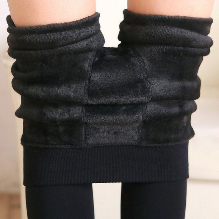 Free Shipping Women Leggings inside Thicken Fur Warm Leggings womens winter fleece legging pants female velvet leggins G0642