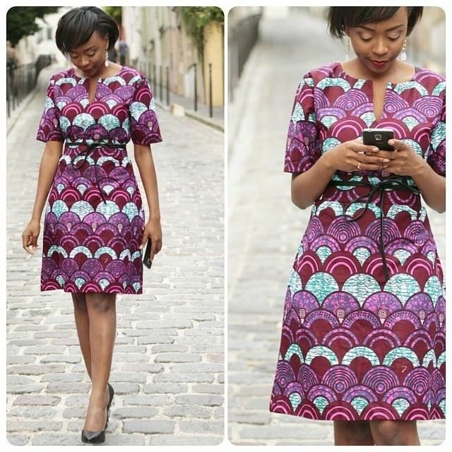 Simple Ankara Styles Short Gown http://www.dezangozone.com/2016/07/simple-ankara-styles-short-gown.html