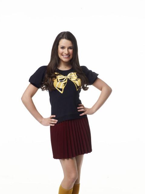 Lea Michele as Rachel Berry on Glee