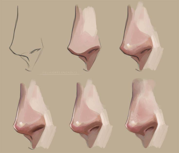 Nose Painting Tutorial by artisticxhelp.deviantart.com on @deviantART